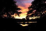 Sunset on Grandad's Bridge, Eccleston Mere