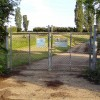 Barford St Michael sewage works gates
