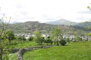 The village of Deiniolen from Lon Fron