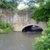 High water level under bridge in Pleasley Vale.