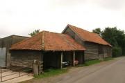 Barn and garage at Oak farm