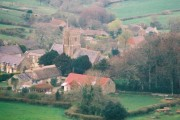 Looking down at Askerswell from the A35