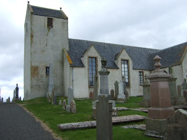 Canisbay church and churchyard