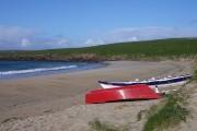 Boats on Levenwick Beach