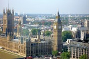 'Big Ben' and London skyline from the London Eye.