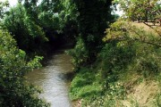River Meden as it flows beneath Sookholme Road