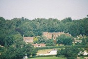 Catherston Leweston: manor and church from A35 bridge