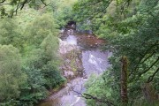 View down onto Afon Tawe