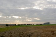 Farmland and factories.