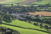 Modern intensive livestock sheds at Porth-y-waen Farm