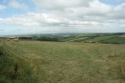 Farmland in the direction of Bodmin Moor.