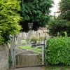 The gate at St Mary's church Collington