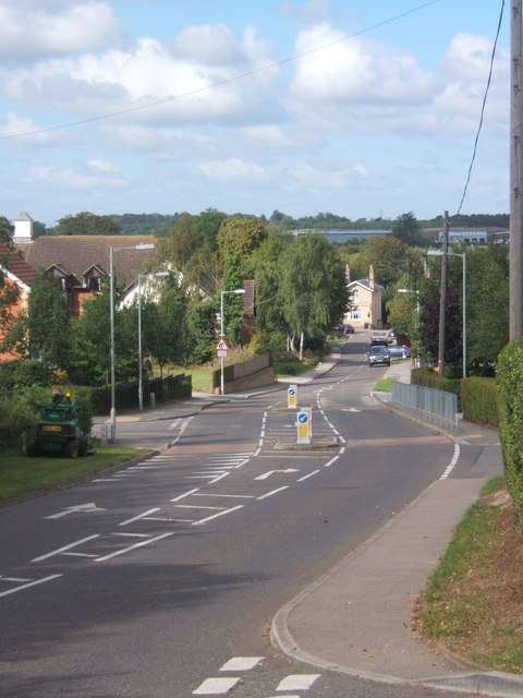 Looking down Church Lane, Claydon