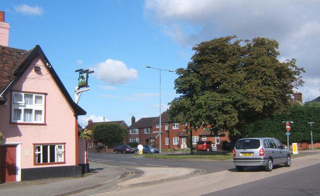 Road junction in Claydon