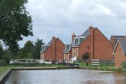 New Housing by Lock 62, Trent and Mersey Canal, Malkins Bank, Cheshire