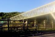 Footbridge across M5 at Michael Wood services.