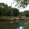 Boats moored above Hanham Lock