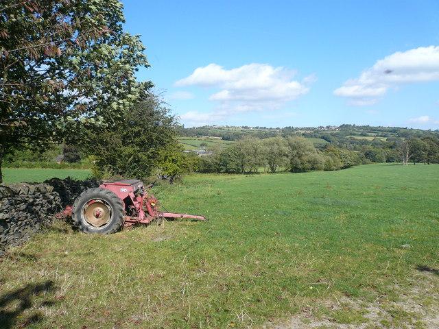 Farm Machinery near Unthank Lane