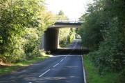 View of M4 motorway bridge