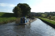 Exchanging dredger hoppers on the Leeds & Liverpool Canal in the Douglas Valley