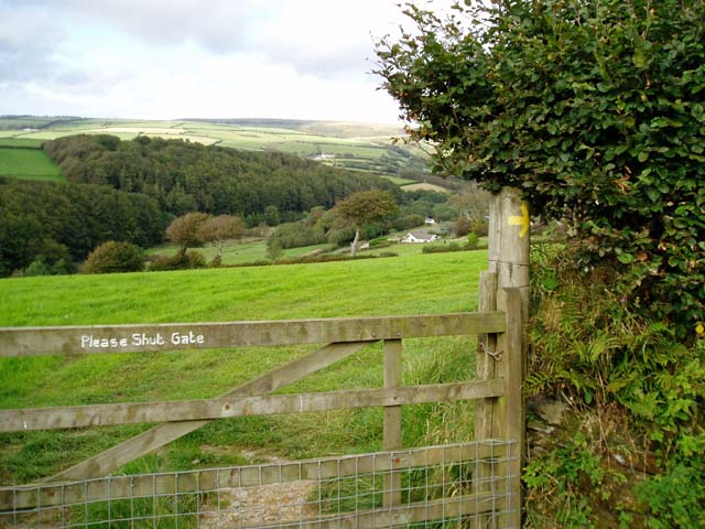 Gated entrance to footpath