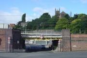 Mind Your Head! Low bridge under the railway in Macclesfield