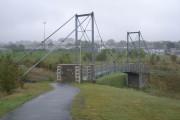 Bridge over the waterway, Trelewis