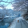 The River Avon at Hanham, in the snow