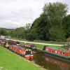 Narrowboats in the Lower Basin, Bugsworth, Derbyshire