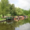 Narrowboats on the Peak Forest Canal, Derbyshire