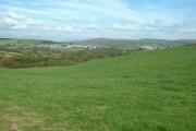 Farmland, looking towards Fforest