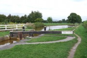 Trent and Mersey Canal at Pierpoint Lock No 55, Hassall Green, Cheshire