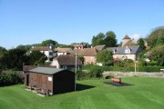 Alkham village from the playing fields
