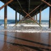 Beneath Paignton Pier