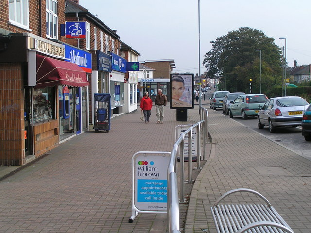 Shops at West end of Sibsons Road