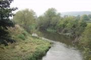 Afon Hafren  (River Severn)  from Maginnis Bridge