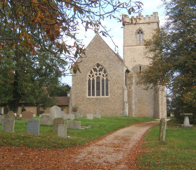 Barham Church, autumnal view