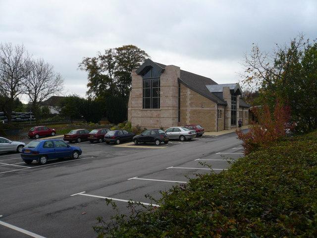 Walton Back Lane - View of Church