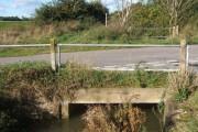 Little bridge at lane junction near Tannington