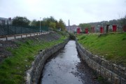 The newly diverted Woodnook Water
