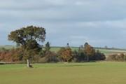 Fields (wide angle view) near Bourton, Shropshire