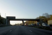 Bridge across the M1 to Wales