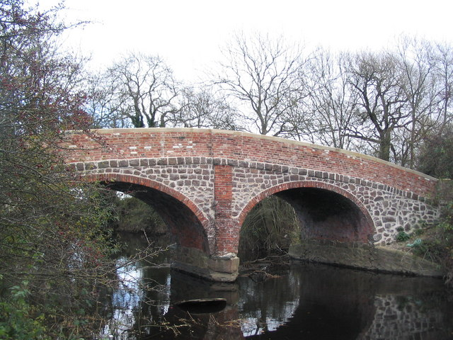 Restored bridleway bridge over the Wreake near Syston