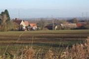 Looking to Badley Hall Farm in next square, from Badley Green Farm track