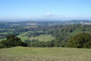 View across Eastnor Park from Midsummer Hill