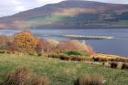 Fish farming in Loch Broom, near Rhiroy
