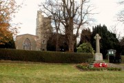 Holbrook parish church and War Memorial