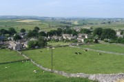 Litton - west end of village from Litton Edge