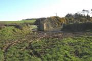 Churned up farmland