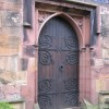 The west door of Hawarden St Deiniol